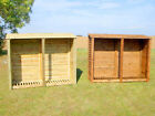 XL DOUBLE 6FT OUTDOOR WOODEN LOG STORE - ALSO AVAILABLE WITH DOORS.