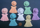 Hand Made Crochet Dress & Hat Dolls House Miniature
