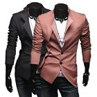 Premium Stylish Mens Casual Slim Fit One Button Formal Blazer Suit Jackets Coat