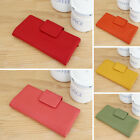 Genuine leather Bifold Long Wallet Clutch Purse with Zipper Coin Pocket
