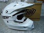New 2015 THH TX12 Solid White Helmet & Thor White Goggles S M XL Motocross