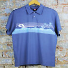 Quiksilver New Perfect Day Polo Golf/Casual/Sport/Summer T-Shirt Blue size S/L
