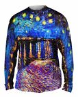 "Yizzam - Van Gogh - ""The Starry Night""-  New Mens Long Sleeve Shirt"
