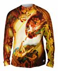 "Yizzam - Michelangelo - ""Creation of Adam""-  New Mens Long Sleeve Shirt"