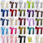"""50 pack 6"""" x 108"""" Satin Chair Cover Sash Bow Decor Wedding - 25+ Colors!"""