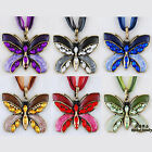 Jewellery Gift Lady's Men's Costume Butterfly Animal Crystal Pendant Necklace