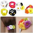 Daisy Flower Hair Bun Ring Holder Garland Scrunchies Floral band Girls / Ladies