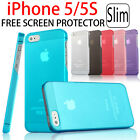 Ultra Slim Matte Plastic Transparent Case Back Cover for Apple iPhone 5 5S