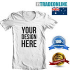 CUSTOM PRINTED T-SHIRT (WHITE) PERSONALISE YOUR OWN TSHIRT TEXT OR DESIGN