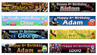 Personalised Childrens Birthday Banner - Various designs.
