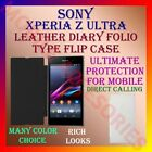 LEATHER DIARY FOLIO FLIP FLAP CASE for SONY XPERIA Z ULTRA MOBILE FULL COVER NEW