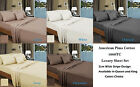 Luxury 1000TC 100% American Pima Cotton Sheet Set Stripe Design - Color Choice