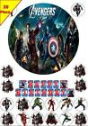 20 Avengers Marvel Heroes Birthday Party Edible Cup Cake Topper Icing Or Wafer