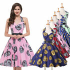 VINTAGE FLOWER SWING COCKTAIL PARTY  DRESS ROCKABILLY PIN UP VINTAGE 50s 60s