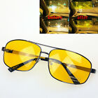 Yellow Unisex Night Vision Driving Glasses Prevent Glare Dazzle Sunglasses