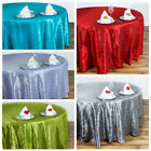 "132"" ROUND Pintuck Fancy TABLECLOTH - Wedding Party Catering Linens Supplies"