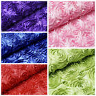 "54"" x 4 yards Raised RIBBON ROSES FABRIC Wedding Party Bolt Put-up Decorations"