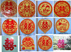 "12"" Chinese Double Happiness Static Plastic Party Wedding Sticker"
