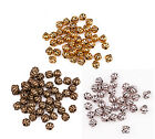 40pcs Zinc Alloy Gold/Silver/Bronze Lantern Shaped Spacer Beads 8x8mm
