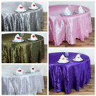 "6 pcs 132"" ROUND Pintuck Fancy TABLECLOTHS Wedding Party Catering Linens SALE"