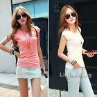 2014 Fashion Womens Clothing Round Neck Cotton Slim Casual Brief T-Shirts Tee
