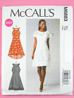 McCall's 6883 Sewing Pattern Ladies/Misses' Dress & Slip - Sleeved/Sleeveless