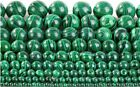 1pc Malachite Green Gemstone Round Loose Spacer Beads 15.5'' Strand 9 Sizes