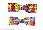Skinny / Thin Autism Awareness Clip On Bow Tie Bow tie Men / Boys