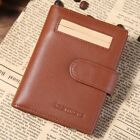 Men's Women's Genuine Leather Brand Business Credit Card Holder Driving License