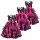 Princess Prom Evening Short Mini Dress Bowknot Formal Cocktail Party Ball Gowns