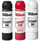 WILSON TENNIS STENCIL INK PLUS WILSON LOGO STENCIL IN RED, ONE SET.