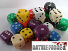 20 12mm OPAQUE SIX SIDED SPOT DICE - GAMES 40k D6 10 Colours - NEW - Educational