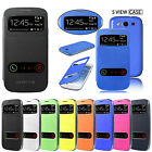 NEW S-VIEW SLIM FLIP CASE BATTERY BACK COVER FOR SAMSUNG GALAXY SIII,S3 (I9300)