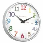 Roco Verre Modern Classic Wall Clock 26cm POLISHED/ BRUUSHED 5 DIAL DESIGNSS