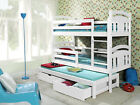 BUNK BED WITH TRUNDLE  BED New 3ft solid WITH MATTRESSES AND  STORAGE DRAWERS