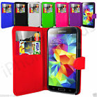 7 Colour Leather Wallet Flip Mobile Phone Case For Samsung Galaxy S5