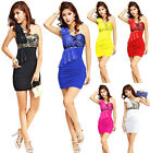 NEW!Sexy Women Bodycon Chiffon Party Ball Cocktail Club Evening Short MINI Dress
