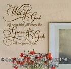 The WILL OF GOD, Grace of God Quote Vinyl Wall Decal Inspirational Religious