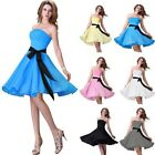 Strapless Bridal Prom Dresses Short Evening Cocktail Homecoming Party Dress Gown