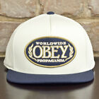 Obey Oval Authentic Snapback Baseball Cap Natural / Blue