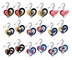 NHL Swirl Heart Team Dangle Earrings - Pick Your Team $6.49 USD on eBay