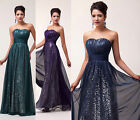 Long Chic Sexy Bridesmaid Evening ball gowns Cocktail Prom Party Formal Dresses