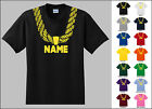 Gold Chain Custom Personalized Name Metallic Hip Hop Funny Youth T-shirt
