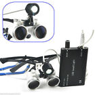 Dental Loupes 3.5X 420mm Surgical Medical Binocular LED Head Light Lamp with CE