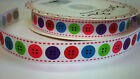 2 METRES Bertie's Bows 16mm BUTTONS Grosgrain Ribbon - CHOOSE SHADE