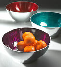 NEW GIFT - ALUMINIUM FRUIT / SALAD BOWL / DISH (choice of Red, Purple or Blue)