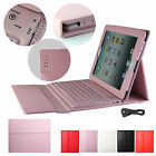 New Leather Wireless Bluetooth Stand Keyboard Case Cover For Apple Ipad 1/2/3/4