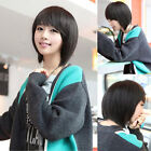 New Cute Women Short Cosplay Fashion Straight Wig Hair Party Wigs Brown/Black
