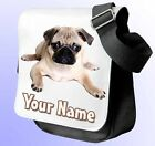 PUG DOG PERSONALISED SHOULDER / HAND BAG *Choice of 3 colour's* GREAT NAMED GIFT