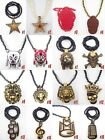 """hip hop Wolf Pendants Wood Rosary Fashion Jewelry Beads 36"""" Chains Necklaces XL1"""